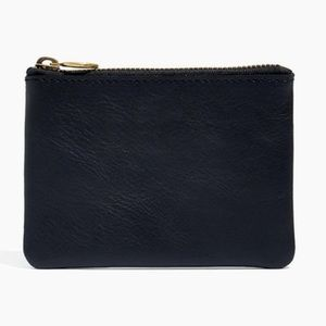 Madewell black The Leather Pouch Wallet